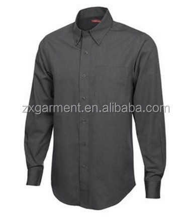 Easy care mens long sleeve dress shirt custom size office shirt factory