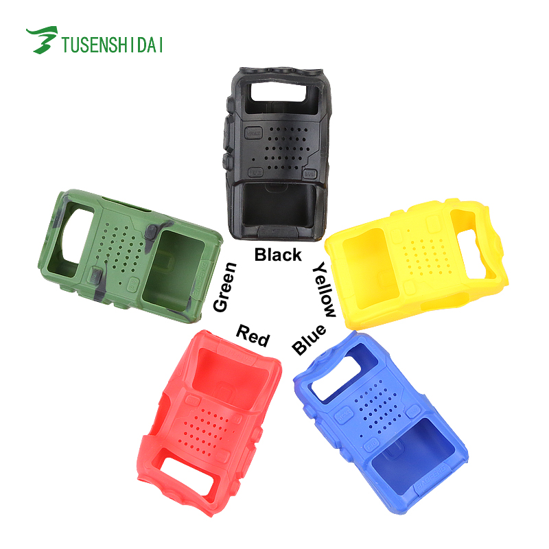 Colorful Rubber Case for Baofeng UV-5R Series Two Way Radio Use