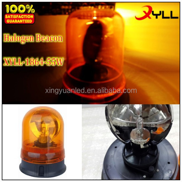 Halogen warning amber revolving beacons for police ,emergency vehicle strobe lights