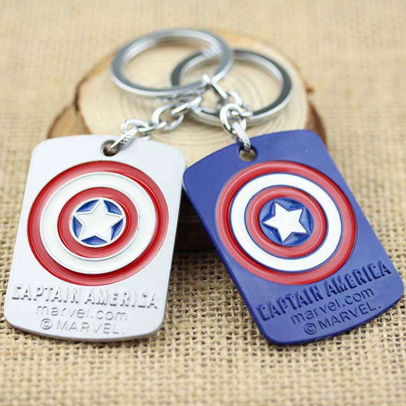 Avengers Captain America Tag Keychain KeyRing New Statement Jewelry <strong>K</strong>-<strong>17</strong>