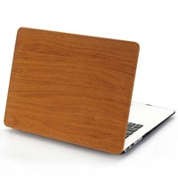 2016 eco friendly wood pu leather flip macrobook cover for ipad air case