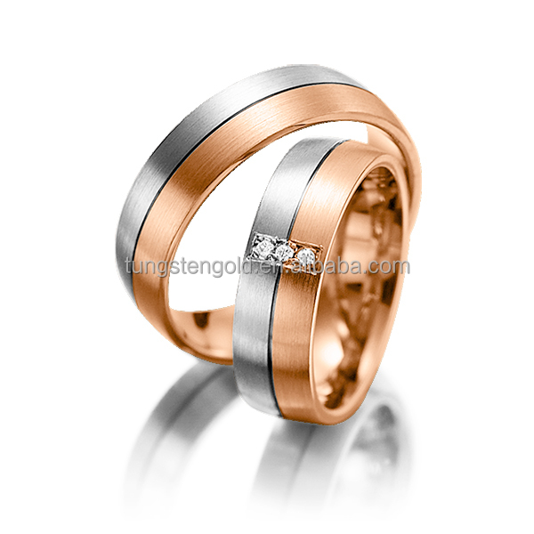 rose gold and white gold rings, two-tone rings, wedding rings