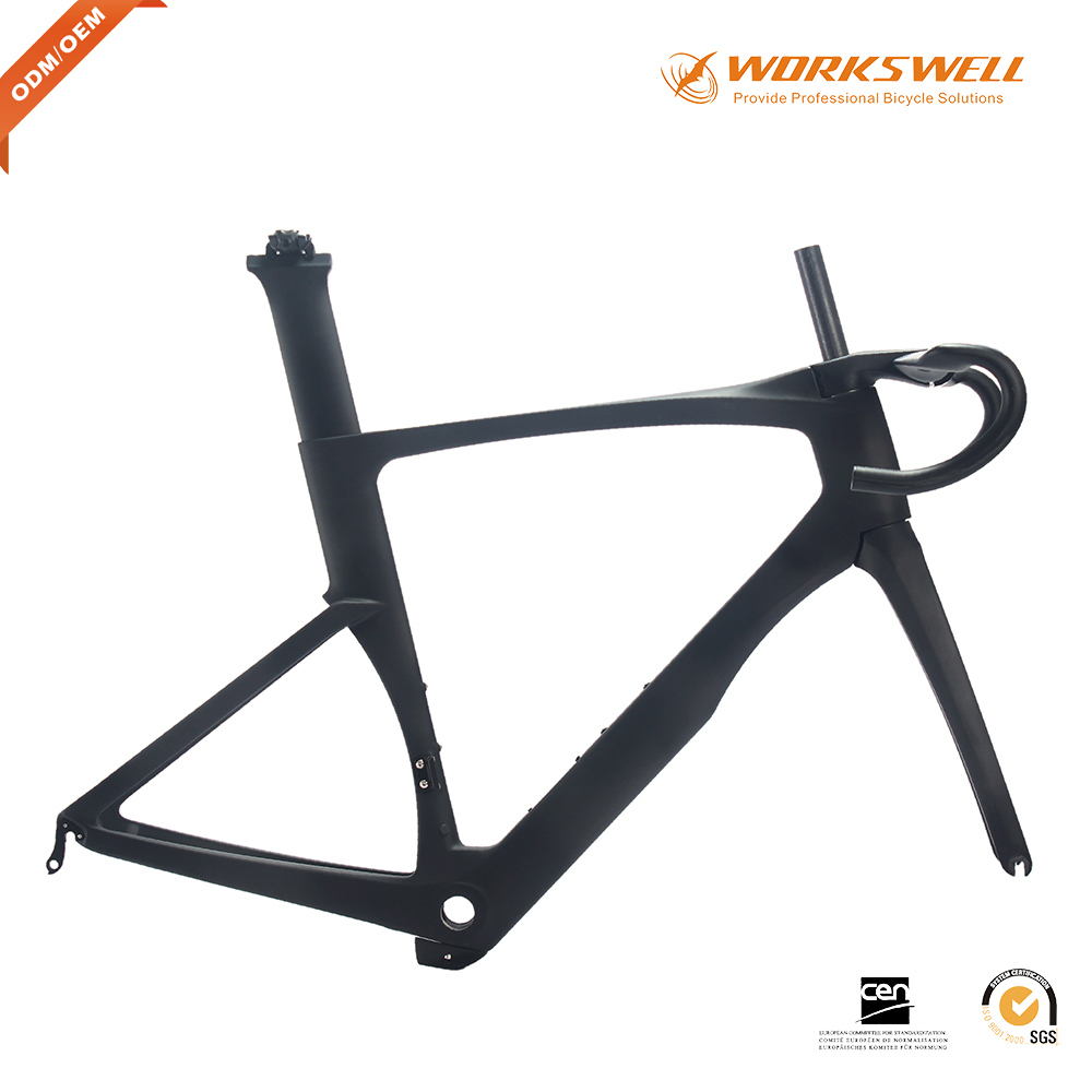 Chinese Full Carbon Fiber Bicycle 700C aerodynamic Carbon Road Bike Frame famous Chinese Carbon Frames