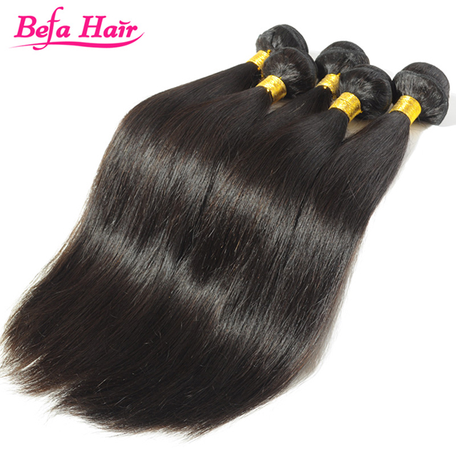 Comfortable Touching Jet Black Straight Natural Brazilian Hair Pieces