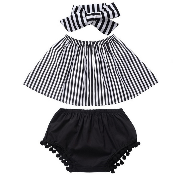 2017 best selling little princess baby shorts and shirt sets clothing