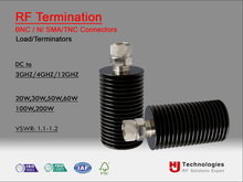Rf Calibration equipment Terminator Termination Load DC, 3GHz,4GHz,12GHz 20W,30W,50W,60W,100W,120W,200W BNC,SMA,N,TNC Connector
