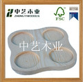 2014 top selling CHINA factory wholesale DIY handicraft solid wood cup holders with 4 compartments