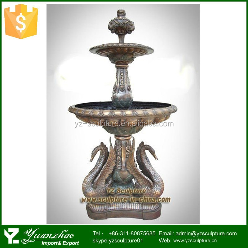 outdoor casting bronze sculpture of animal fountain for sale