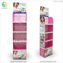 Custom Logo Makeup Mac Cosmetic Pop cardboard floor display Stand for skincare product