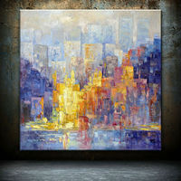 Best price for the new beautiful decoration urban landscape art painting