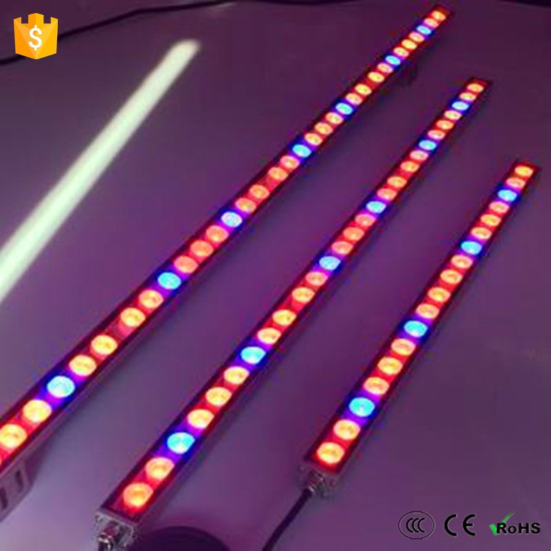 Commercial greenhouse lighting high quality CE ROSH listed 108w waterproof led grow bar greenhouses equipment