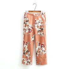 NS1807 European fashion ladies fashion sexy floral printed suits pants