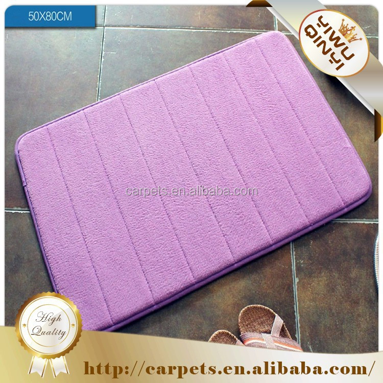 Anti-slip Pvc polyester memory foam bathroom carpets and rugs / drawing room carpet