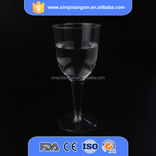 Clear disposable plastic custom wine glass