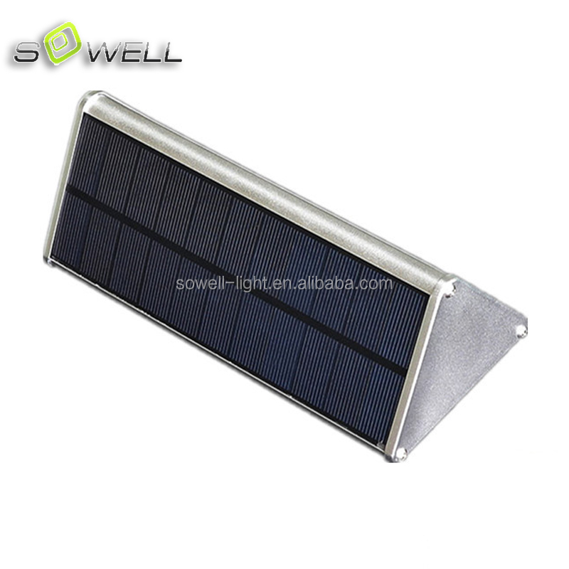 Microwave Sensor 48 LED aluminium triangle solar panel 3.2W