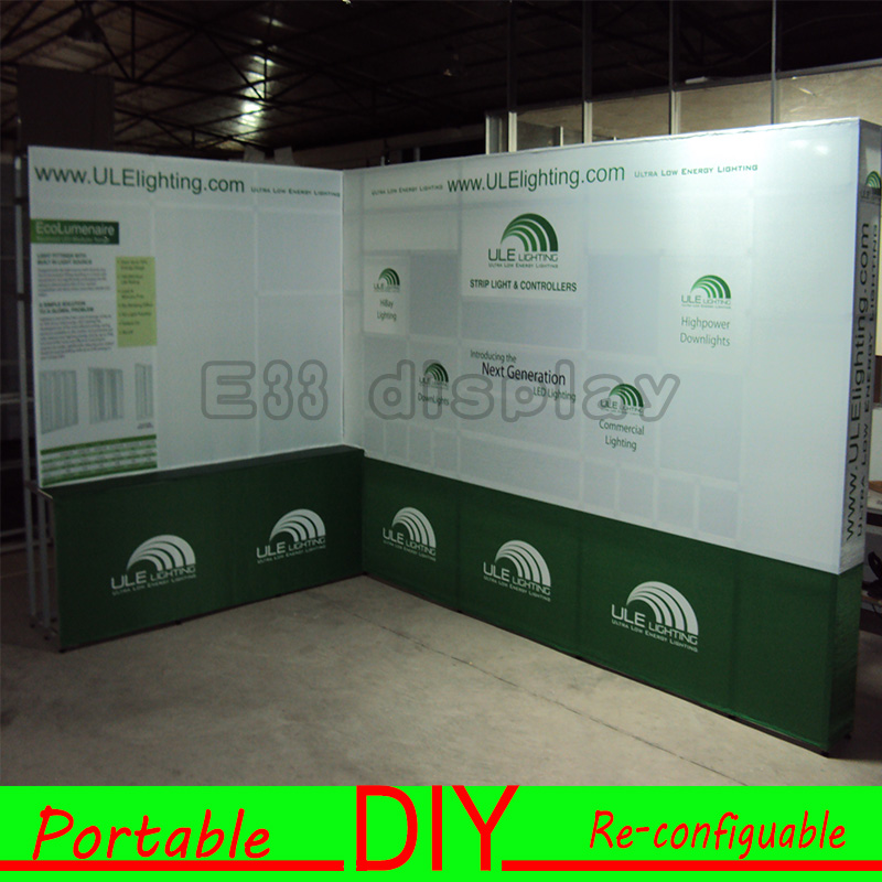 Trade Show Exhibition Booth Portable Modular Seamless Wall Display