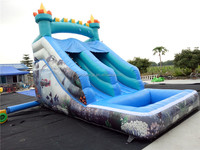 New undersea theme giant inflatable water slide for sale
