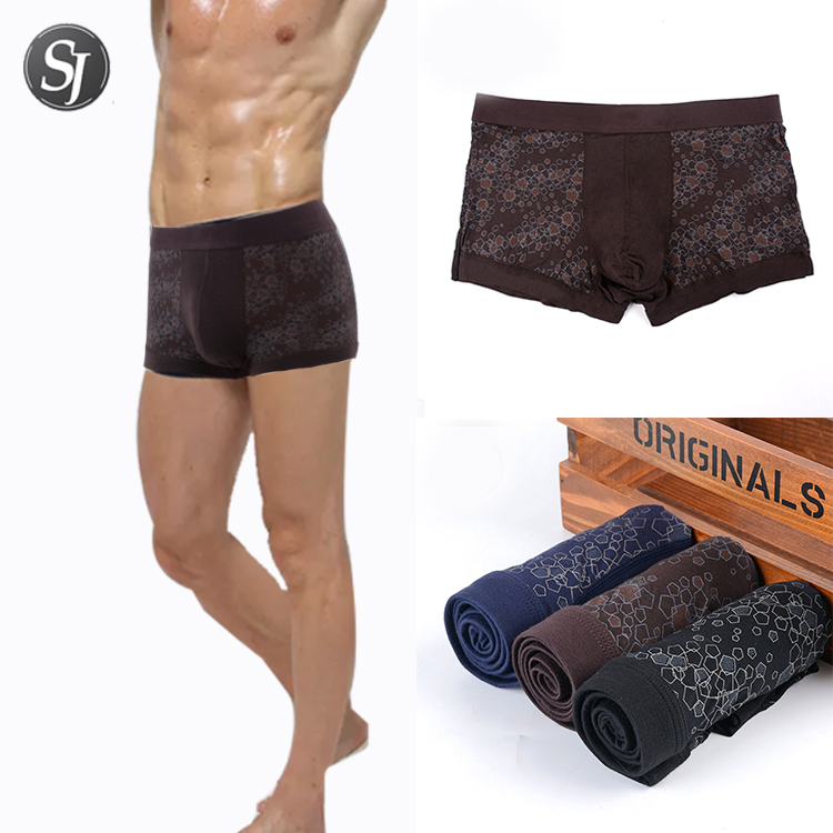 New design fashionable elastic free size power young mens sexy underwear