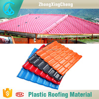 Modern house Bamboo style ASA coated plastic synthetic spanish resin roof tile clear corrugated roofing sheets