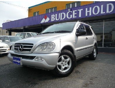 pre-owned car 2000 Mercedes Benz Used car/129,470km/SUV/3,200cc/Silver/Gasoline/RHD
