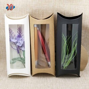 Factory made pvc window pillow paper gift packaging box