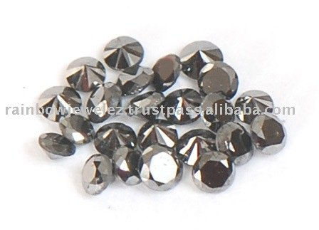 1. 00 CT Souh African Certified Lot of Black Diamonds-Loose Wholesale Lot of Black Diamond Pointers-Ideal for Jewelry Setting