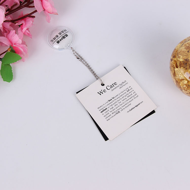Direct sale new design custom printed jewelry hang tags