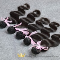 Qingdao New Products Natural Black Grade 7A Unprocessed Virgin Brazilian Human Hair In New York 5Pcs/lot