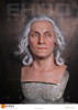 realistic lifesize wax resin silicone figure of washington