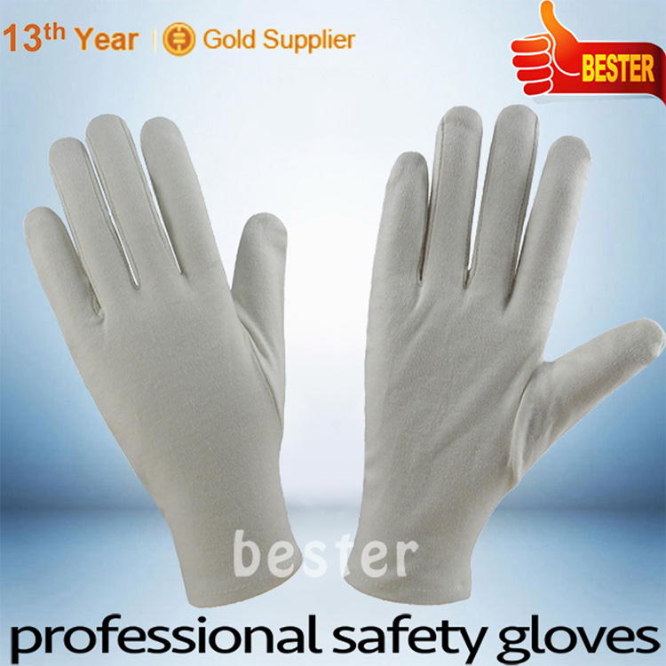 INSPECTION usage Professional Factory supplies pvc dot kids white cotton gloves