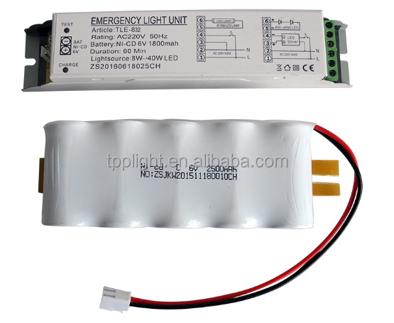 Emergency Conversion Kit TLE-832-3 hours duration LED emergency light power pack