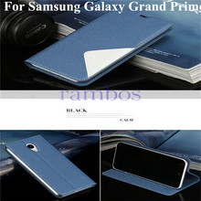 Flip Leather Case Smart Phone Bag Book Style Stand Cover for Samsung Galaxy Grand Prime G530