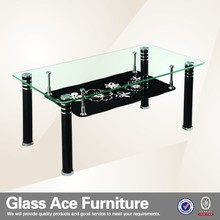 Hot Sale Modern tempered Glass metal Coffee Table CT5258