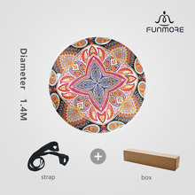 New designed Eco friendly natural rubber round yoga mat