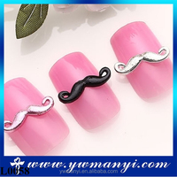 Wholesale 3D Nail Art Jewelry Alloy Mustache Nail Sticker L0058