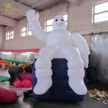 Outdoor advertising decorative inflatable products event giant inflatable tire mascot