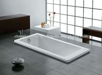 Simple and low price acrylic bathtub square K-1014