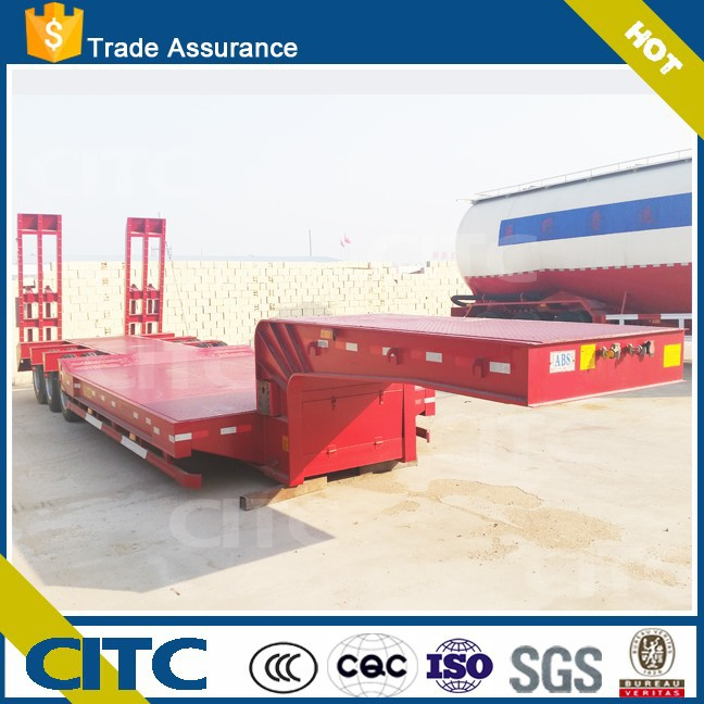 CITC china brand 2 axles 3 axles gooseneck horse trailer low bed semi trailer with high quality low price for sale
