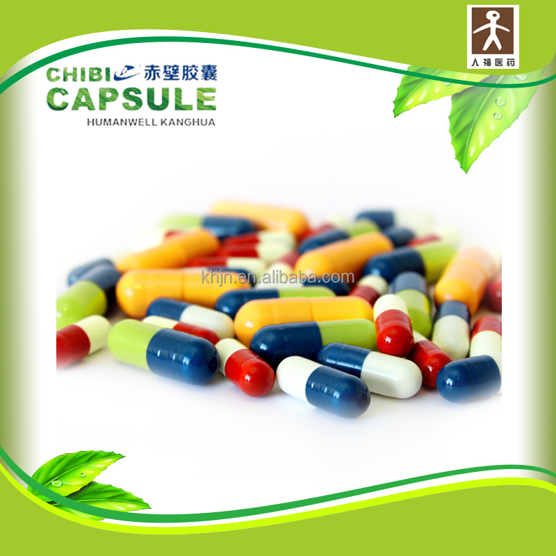 HALAL and FDA certified vigorous blue and white capsules for pharmaceutical packing