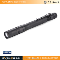 150 lumens focus adjustment pen style led mini torch flashlight
