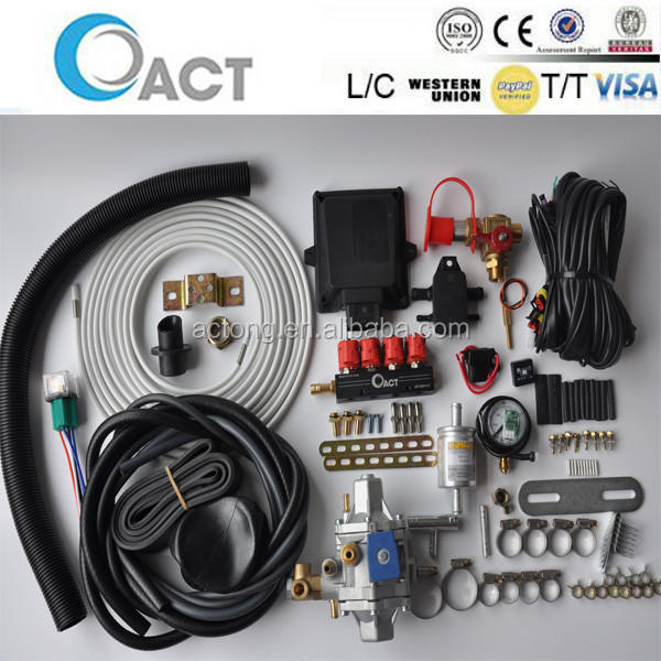 OEM CNG sequential injection systems / automobile reducer ecu kits & Injector rail for completed system