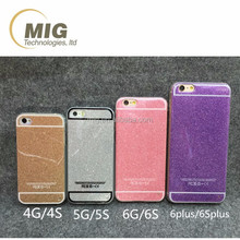 Glitter shining sublimation mobile phone case for iphone 4 4s 5 5s 6 6s plus