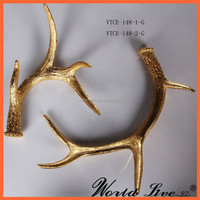 VTCE-148-1-G Promotional Antler Shape Home Decorative Resin Crafts