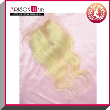 Most popular hair ! New wholesale price natural color cheap lace closure piece