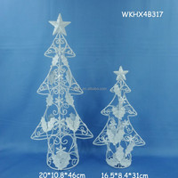 Floor standing metal christmas tree candle holder