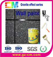 Waterproof uv proof imitation granite spray exterior paint
