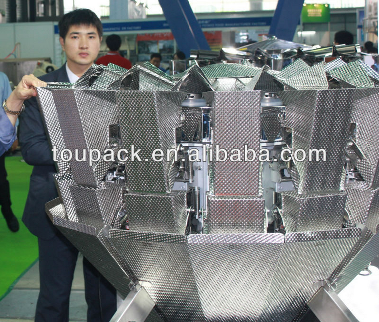 14 heads dimple surface multihead combination weigher
