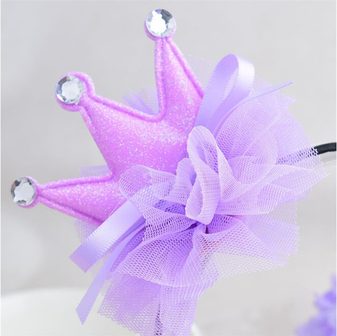 Hot-sale Korean fashion kids hair accessories piece crown style with rhinestone pageant children's day performance accessories
