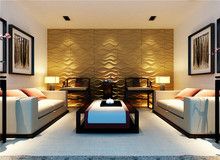 Embossed surface interior decorative 3d wall panel for interior space