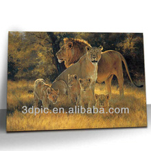 2014 new products 3d lenticular poster of lion pack